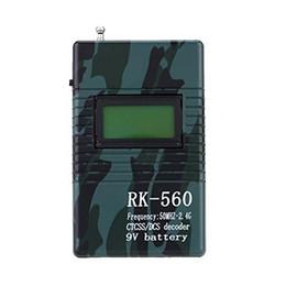 mahindra carro obd2 scanner Desconto Fcarobd 1 pc Portátil Handheld DCS CTCSS Medidor de Freqüência decodificador Rádio Freqüência Tester Monitor de 2-Way Rádio Walkie Talkie RK560