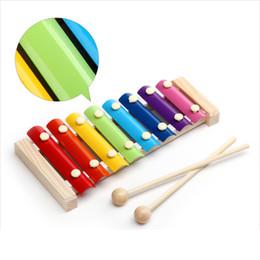 Brinquedos de madeira velha on-line-Madeira oitava de madeira maciça instrumento de percussão para crianças puzzle instrumento de percussão 26 anos de idade brinquedo esclarecimento educação precoce
