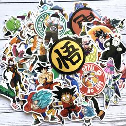 New Dragon Ball Z Graffiti Adesivo Personalidade Bagagem DIY Adesivos PVC Dos Desenhos Animados Adesivos de Parede Saco Acessórios para Crianças Brinquedos de Presente de Fornecedores de bola de dragão z bolsas