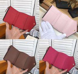 2019 bolsa estilo caixa Novo designer de botão mulheres carteiras curtas moda feminina zero bolsa estilo Europeu senhora casual embreagens com caixa M41938 bolsa estilo caixa barato