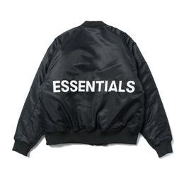 Motos de bombardero online-Chaquetas para hombre de diseño miedo a la Bombardero DIOS ESENCIALES FOG marca de moda chaquetas chaquetas de la motocicleta Piloto Calle floja Outwear