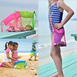Mochilas para crianças on-line-9 Cores Malha Saco De Praia Tote Kids Shell Coletor de Brinquedos Sacos de Armazenamento Meninos Meninas Crianças Malha Bloco de Areia Saco de Areia Caixa De Areia Totes B5161
