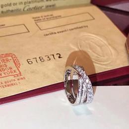 silber kreuzband Rabatt S925 reines Silber Top-Qualität Paris Design Kreuzring mit Diamanten Liebhaber Ringgröße für Damen und Herren Schmuck Geschenk mit Logo PS7612