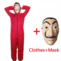 Dança de tv on-line-Máscaras traje Mens Halloween Filme La Casa De Papel 3 Costumes New Moda Best Selling Cosplay roupas de festa Show Dance Cosplay engraçados