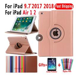 2019 ipad чехлы для девочек Вращающийся на 360 градусов кожаный чехол для Apple iPad Air 1 Air 2 5 6 Новый iPad 9.7 2017 2018 5-го поколения 6-го поколения Coque Funda новый