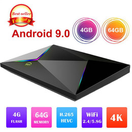 2019 reproductor multimedia 3g 1 PCS Los más vendidos M9S Z8 4 gb 32 gb 4 GB 64 gb Allwinner H6 Android 9.0 caja de tv caja de conexión set box top H.265 6 K Smart TV Box PK S905X2 H6