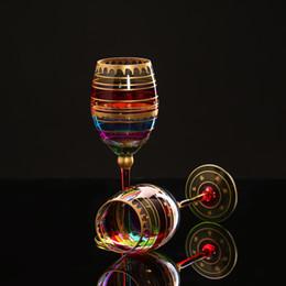 2019 рисование очков Цветной рисунок Большой Шампанское Флейта Стекло Хрустальная чашка Красное вино Бокалы Бокалы для водки Стаканчики для дома Бар для вечеринок Посуда для напитков скидка рисование очков