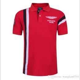 Verano Caliente En España Moda Deporte Polo Hombres ASTON MARTIN RACING 100% Algodón Polos Camisas Rojo Blanco desde fabricantes