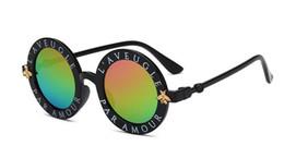 Lunettes de soleil pour filles uv en Ligne-Nouveau luxe Designer lunettes de soleil pour la mode des enfants ronde été style filles garçons lunettes de soleil enfants plage fournitures UV lunettes de protection
