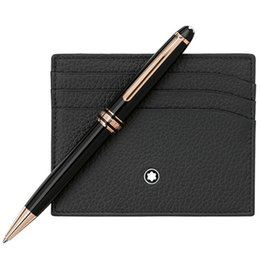 Mb 163 pluma online-Bolígrafo de lujo marca mb Meisterstcek 163 Rollerball de resina negra - Bolígrafo Plumas estilográficas Escritura de útiles escolares con Alemania Número de serie