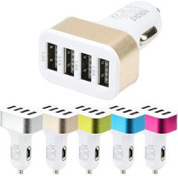 Chargeur de voiture universel en Ligne-Chargeur de voiture 2.6A, chargeurs de batterie de voiture USB rapide 4 ports USB adaptateur chargeur de cigarette pour Apple Iphone