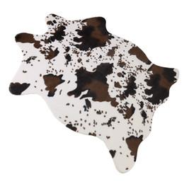2019 prix du revêtement de sol Tapis imprimé mignon de vache Tapis amusant, idéal pour décorer la chambre des enfants / sous la table basse / chambre d'enfant sur le thème de Cowboy / salle à thème sur la jungle