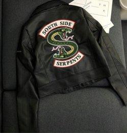 New American American femmes en cuir veste lettre autocollant brodé dragon broderie totem PU cuir laver veste locomotive vêtements ? partir de fabricateur