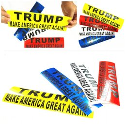 make car stickers Coupons - 2020 Donald Trump Bumper Car Stickers 30*8cm 6 Colors Reflective Paste English Words Make America Great Again Decal Wall Stickers 8mlE1