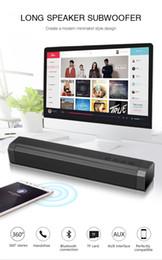 2019 control remoto con cable 2019 LP-089 Barra de sonido 3D Altavoz Bluetooth inalámbrico con doble 5W Bajo Sonido envolvente Altavoz Compatibilidad con tarjeta TF Función de llamadas Mejor Bluedio