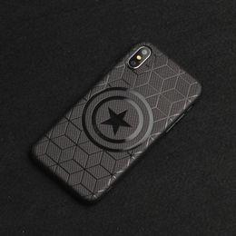 Étui iphone protecteur en Ligne-Coque Captain America Shield Superhero YunRT Marvel Avengers pour iPhone 8 7 6 6 S Plus X X Max Caoutchouc Ironman Comic capinhas Couverture