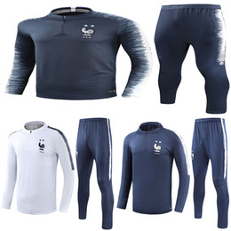 star lavender Promo Codes - 2 Star Thai 2018 France soccer Tracksuit PAYET POGBA Track suits jacket 2018 19 GRIEZMANN chandal training suits sports wear.