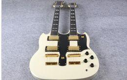2019 chitarre elettriche ems Chitarra elettrica Double Neck 1275 Model cream Finish In vendita spedizione gratuita
