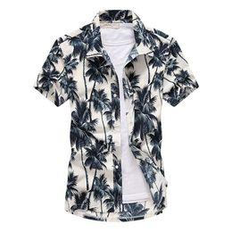 2019 più abbigliamento vacanza di dimensioni Camicia hawaiana di marca di estate della spiaggia 2019 del manicotto del bicchierino del manicotto più di formato Camicie floreali degli uomini Camisas casuali di vacanza di festa più abbigliamento vacanza di dimensioni economici