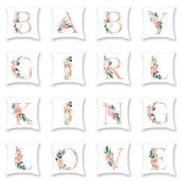 hand eingehakt teppiche Rabatt Kreative Sofa Kissenbezug Dekorative 45x45 cm Polyster Weihnachten Kissenbezug Brief Drucken Dekokissen für Stuhl Schlafsofa