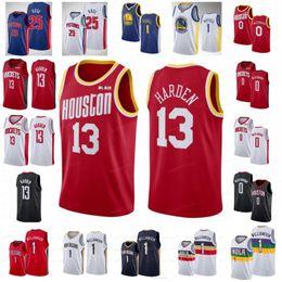 Rosa basquete on-line-NCAA Russell 0 westbrook Jerseys James 13 Harden Derrick 25 Rose Zion 1 Williamson DAngelo 1 Russell Mens University 2019 City Basketball