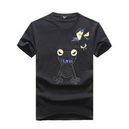 Marche cool tshirt online-HOT 2019 Estate Fashion Brand manica corta da uomo T-shirt FD8011 Cool Eyes stile designer FF lettera cotone Abbigliamento uomo tshirt O-Collo tees