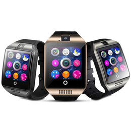 Smartwatch dhl бесплатно онлайн-HotQ18 умные часы часы Bluetooth SmartWatch наручные часы с камерой TF слот для SIM-карты / шагомер / анти-потерянный / для Apple Android бесплатно DHL