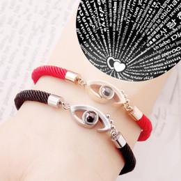 hochzeitstag armband Rabatt 100 sprachen armband ich liebe dich rotes seil charm armband romantische liebe erinnerung hochzeit schmuck valentinstag geschenk 3colors mma1298