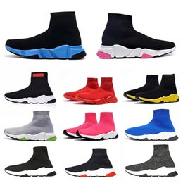 2019 Fashion Calze Scarpe Speed Trainer Casual Shoes Sneakers corridori corsa per gli uomini delle donne di sport Formato dei pattini EUR 36 45