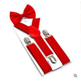 2019 corbata jacquard Tirantes de la pajarita conjunto caballero elegante acero inoxidable Clip de calidad superior cinturón Jacquard bebé pantalones accesorios envío gratis corbata jacquard baratos