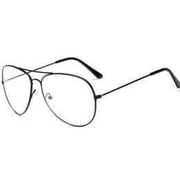 f41e4e38fbbbf4 großhandel sonnenbrille gold vintage frames Rabatt New Classic Pilot Frame  Sonnenbrille Frame Mode Dekorative Rahmen Gläser