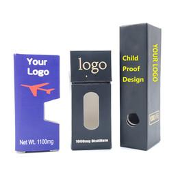 Cartuchos de cig online-Logotipo personalizado a prueba de niños de embalaje de cajas con ventana lateral del paquete de ampolla magnética Caja Vape Cartuchos E Cig vaporizadores libre Paquete OEM envío