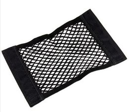 wire mesh organizer Promo Codes - DHL 100pcs Seat Elastic String Net Mesh Storage Bag Pocket Organizer Seat Back Bag 40*25cm