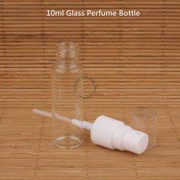 bottiglie spray spray atomizzatore all'ingrosso Sconti 100pcs / Lot 10ml di vetro all'ingrosso bottiglia di profumo con tappo in plastica contenitore cosmetico 1 / 3oz spruzzo ricaricabile Imballaggio atomizzatore