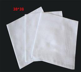 2019 reine lila brautkleider Baumwolltaschentuch Weißes Einstecktuch Einstecktuch 38cm * 38cm dc138
