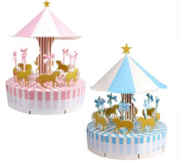 Карусель подарки на день рождения онлайн-OurWarm Unique Carousel Candy Box for Unicorn Party Gift Birthday Party Decorations Wedding Favors and Gifts Souvenir for Guests