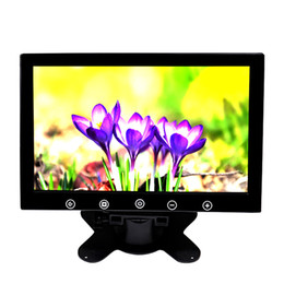 desktop monitors Coupons - 10.1 inch desktop Car Reverse Backup Rearview TFT LCD monitor 2 AV Video Input TV return headrest Display Free Drop Shipping