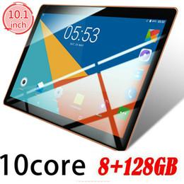 Tabletas de 8 gb online-Tableta de 10.1 pulgadas 8 + 128G Android 8.0 Bluetooth WiFi 3G PC 2 SIM GPS Cámara doble