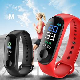 M3 Smart Armband farbbildschirm IP68 Fitness Tracker blutdruck Pulsmesser Smart band Smart Watch Männer Für Android IOS von Fabrikanten