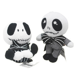 Estilos do jaque on-line-20-23 cm 2 estilos Presente de Halloween O Pesadelo Antes de Jack Skellington em Terno Brinquedo de Pelúcia Boneca de Presente para crianças brinquedos