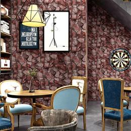 fond d'écran nostalgique Promotion Papier peint rétro Vintage nostalgique rock pierre marbre culture papier peint restaurant bar café brique papier peint décoration
