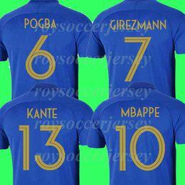 e4e6da98b6e 2019 maillot de foot MBAPPE GRIEZMANN POGBA jerseys 100th anniversary  DEMBELE Soccer jersey Navy Football shirts LUCAS Equipe coupe 2018 kit