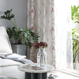 2019 stringa di paglia all'ingrosso Nuove tende oscuranti jacquard nordiche in rilievo nordico per soggiorno, sala da pranzo, camera da letto.