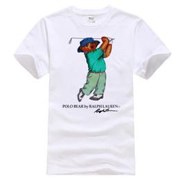 Image blanche de t shirt en Ligne-T-shirt blanc des années 90 POLO sport Bear Golf blanc réimpression taille USA S-3XL intéressant des images
