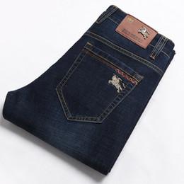 Wholesale 2019 Mode Hommes Marine Jeans Designer Marque Denim Pants Haute Qualité Printemps Et Automne Élastique Pantalon Grande Taille Mâle Casual Jeans