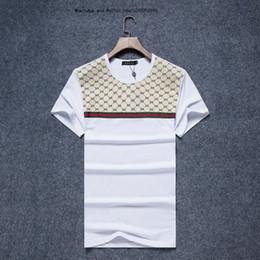 acd07c25608 Mode européenne nouveau modèle d été de style masculin col rond Casual  desserrer manches courtes T-shirts pour hommes T-shirt vêtements