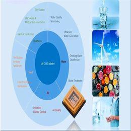 led pcb pc Rebajas La esterilización 100pcs paquete SMD3535 265 nm 275 nm 285nm esterilice desinfecte 10-15MW 1w uvc SMD diodo led para la esterilización de aire y agua