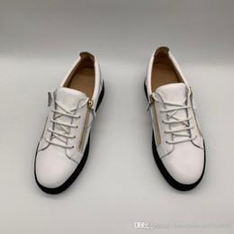 Erkek Deri Sneakers Ile Çift Altın Fermuar, Siyah Kertenkele Şerit Inek Deri Moda Kadınlar için Rahat Daireler Boyutu 35-47 nereden