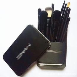 Pinceaux de maquillage set 12 en Ligne-Nouveau MAC pinceaux de maquillage NK pinceaux de maquillage 12 pinceaux de maquillage pinceau poudre poudre fard à paupières livraison gratuite