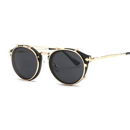 готические круглые солнцезащитные очки Скидка Vidano оптический старинные круглые женщины солнцезащитные очки стимпанк ретро мужчины женщина дизайнер очки клип на готический солнцезащитные очки oculos де соль
